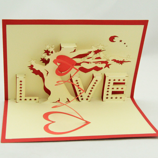 Love tree pop up card /3D  kirigami card/ handmade wedding invitation heart moon  valentine's day  Free shipping music card spiral pop up musical notes 3d card music instruments pop up card bday pop up card