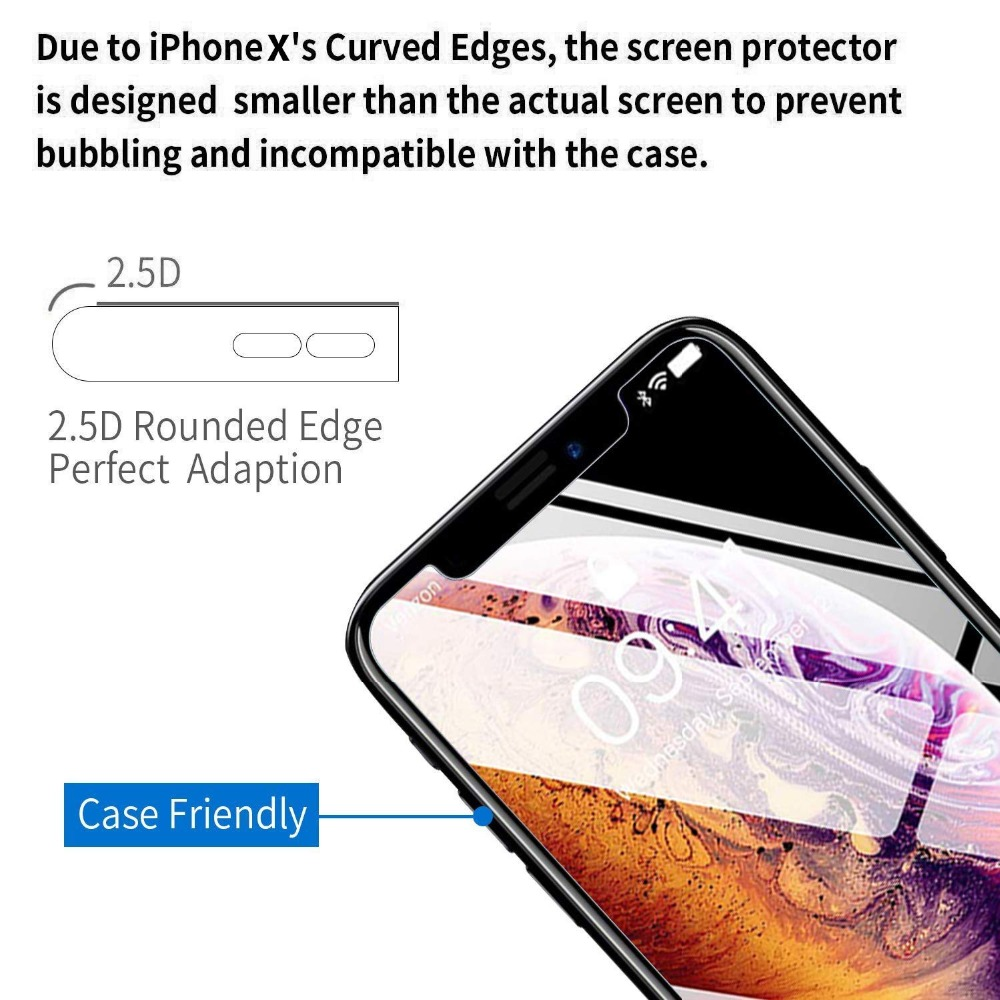 9H Tempered Glass for iPhone 7 8 X Xr XS 11 Pro Max 6 plus 5 5s se 4 4s Screen Protector Film for iPhone 11 Pro Max 2019 Glass in Phone Screen Protectors from Cellphones Telecommunications