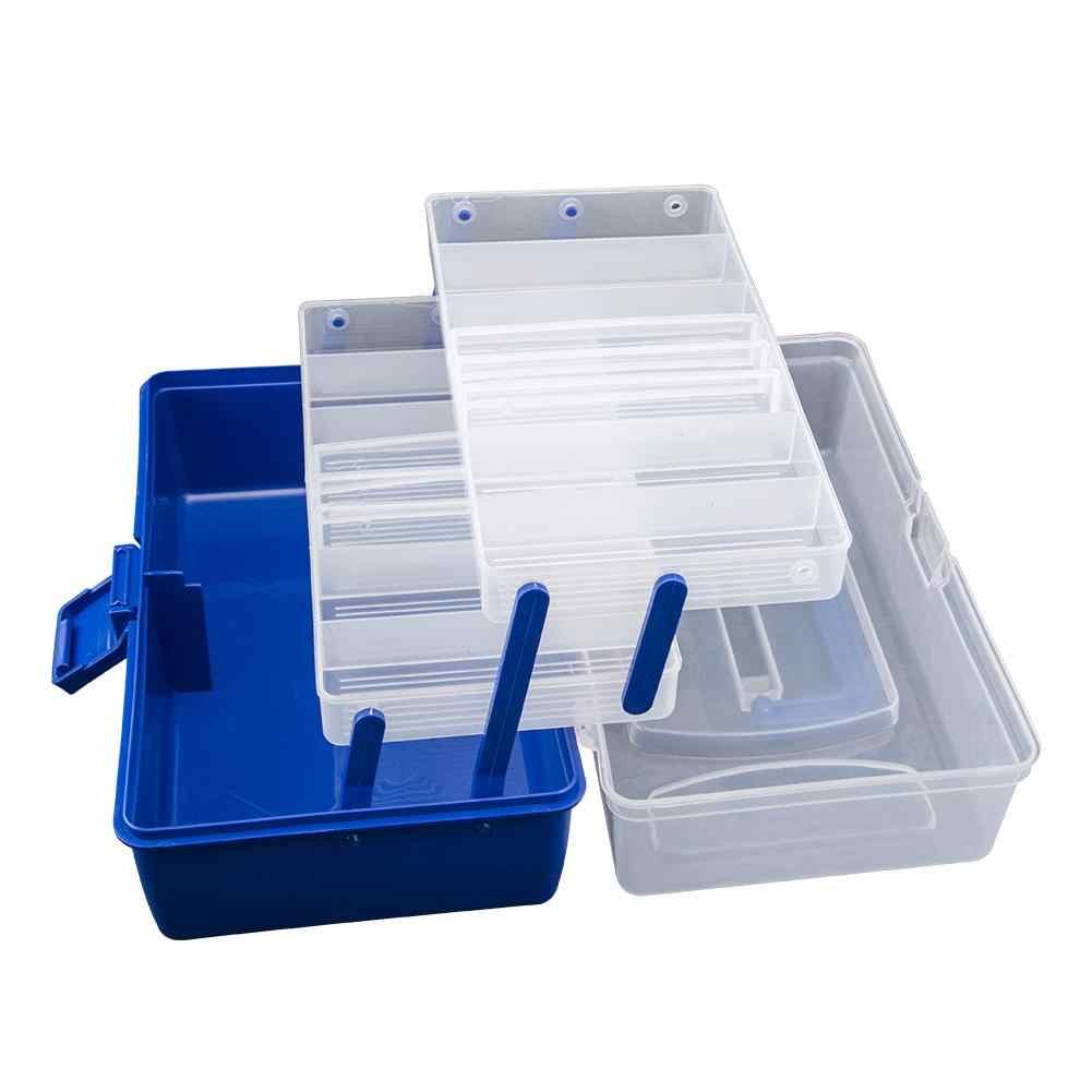 À prova dwaterproof água multi camada caixa de equipamento de pesca com mosca caixa de armazenamento de pesca portátil forte resistente à corrosão