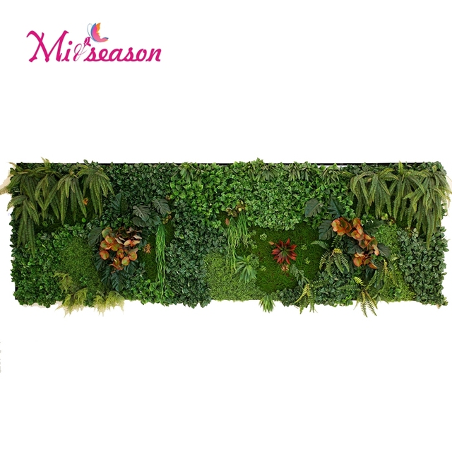 17kinds 40X60cm Artificial Indoor/Outside Plants Lawn Micro ...