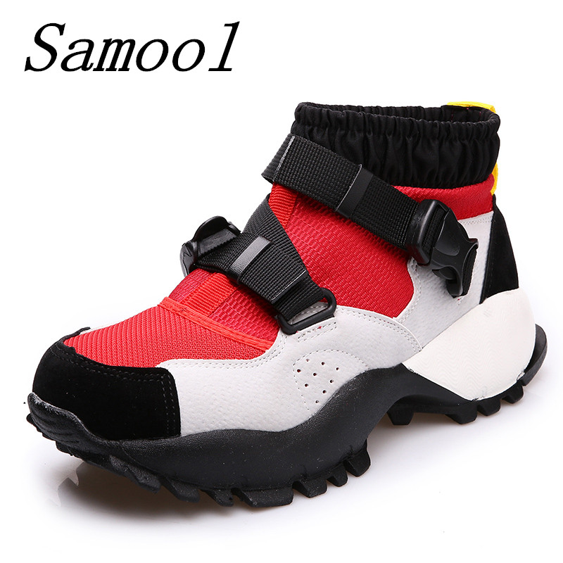 Women's High Platform Shoes 2018 Breathable Harajuku Shoe Women Casual Fashion Shoes Thick Sole Ladies Zapatillas Mujer jx5 intelligent sole shoe polisher shoe cleaning machine household automatic shoe cleaner