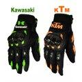 Ktm bici de la motocicleta guantes retro kawasaki moto racing motocross guantes llenos del dedo guantes de los hombres m/l/xl/xxl al por mayor y al por menor