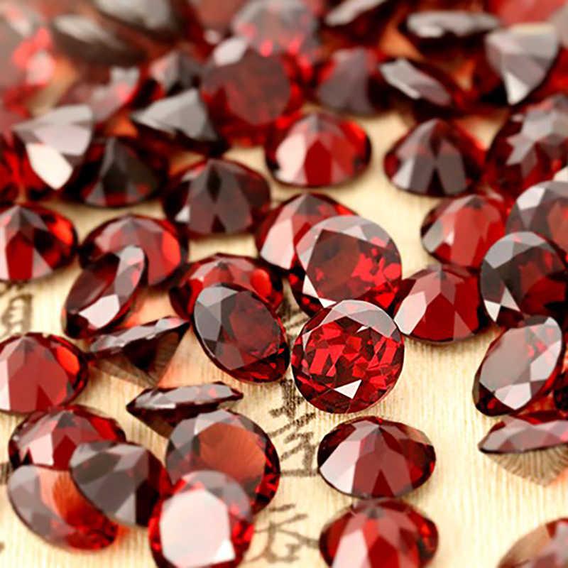 Garnet tự nhiên trong vòng 8 mét * 8 mét, màu sắc tươi sáng và lửa, bông tai thiết kế, kỷ niệm quà tặng cho người yêu trang sức làm mian đá