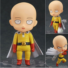NEW hot 10cm Q version ONE PUNCH MAN Saitama Sensei movable action figure toys collection christmas toy