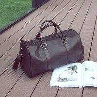 Leather Travel Bag Women And Men Large Carry On Luggage Handbag Luggage BagTravel Duffle Bags Weekend