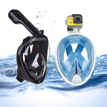 Full Face Diving Mask Swimming Snorkel Scuba Mask Underwater Anti Fog Snorkeling Masks Swimming Snorkel Diving Equipment все цены