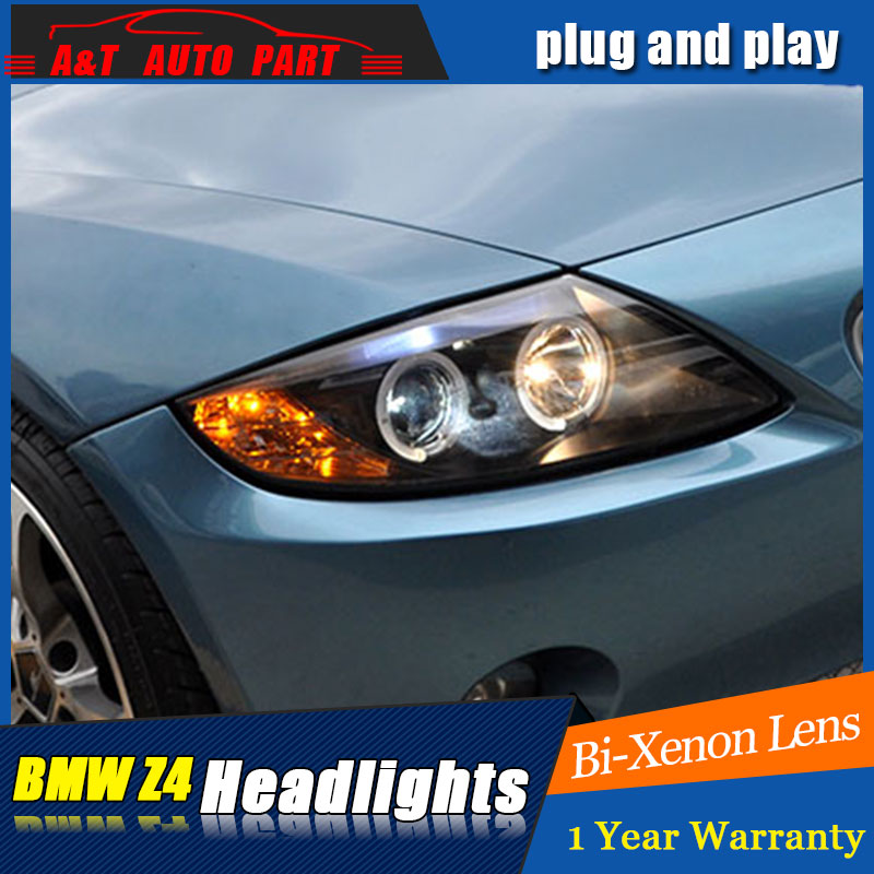 Auto Lighting Style LED Head Lamp for BMW Z4 headlights 2004-2007 for Z4 LED angle eyes drl H7 hid Bi-Xenon Lens low beam auto lighting style led head lamp for toyota yaris l led headlights 2014 2016 double u led hid kit bi xenon lens low beam