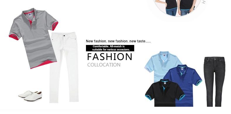 URSPORTTECH Men's Polo Shirt For Men Desiger Polos Men Cotton Short Sleeve shirt Clothes jerseys golftennis Plus Size XS- XXXL 6