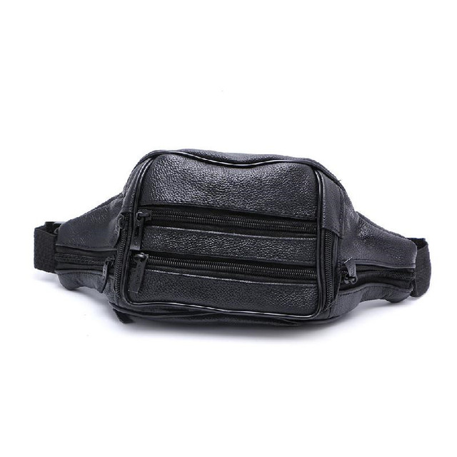 2018 New Arrival Uni 7 Compartments Waist Pack Belt Bag Pouch Travel Hip Purse Men