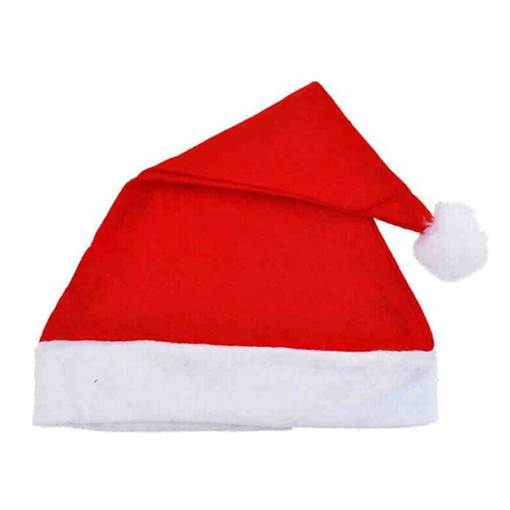 1 Pc 2017 Adults And Kids Christmas Caps Thick Ultra Soft Plush Santa Claus Holidays Fancy Dress Hats Fashionable Design Cap