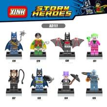 8PCs lot Super Heroes Avengers Minifigures Penguin Batman Joker Building font b Blocks b font Figures