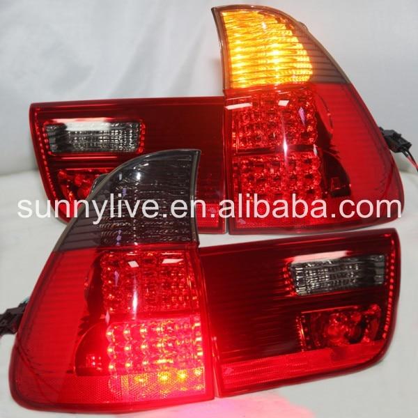 X5 E53 светодио дный фонарь задний лампы для BMW красные, черные Цвет 2000 2006 год