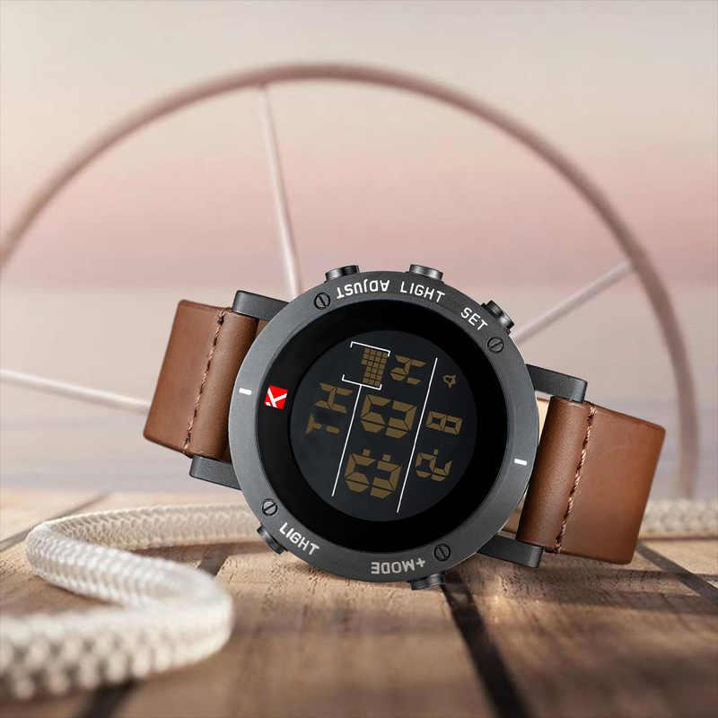 KDM שעון גברים ספורט הכרונוגרף עמיד למים שעונים תצוגת LED הצבאי שעונים זכר זוהר שעון Relogio Masculino 8066