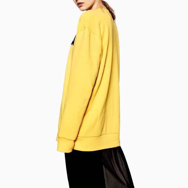 details for online store how to buy Otoño de las mujeres banana split Letras amarillas Jerséis ...