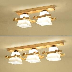 Image 3 - מוצק עץ תקרת מנורת מרפסת אמריקאי סקנדינבי חדש סיני מעבר מסדרון אור lw417627