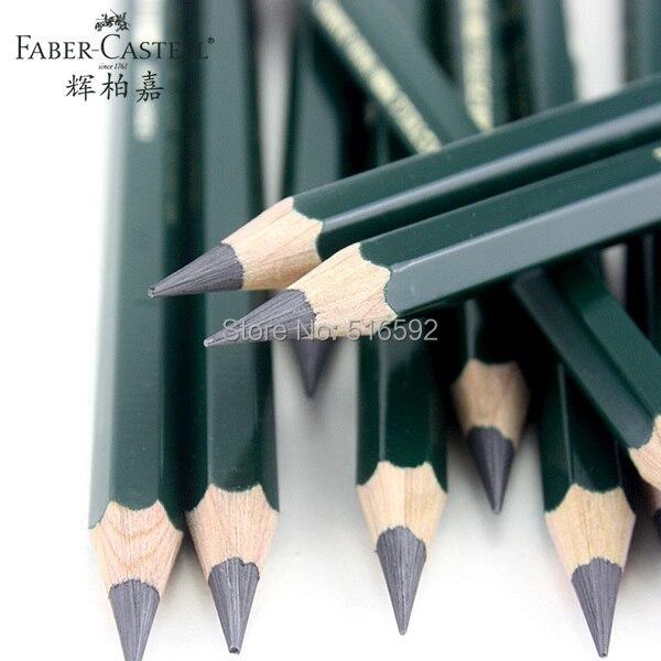 6 pièces ensemble de crayons de croquis d'artiste faber-castell 9000, crayons JUMBO avec un plomb très épais, parfait pour le croquis, le dessin ou l'écriture