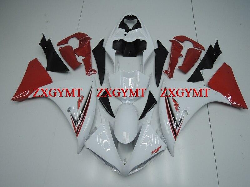 Full Body Kits for for YAMAHA YZFR1 2009 - 2011 Fairings YZF1000 R1 10 11 White Red Plastic Fairings YZFR1 10 11Full Body Kits for for YAMAHA YZFR1 2009 - 2011 Fairings YZF1000 R1 10 11 White Red Plastic Fairings YZFR1 10 11