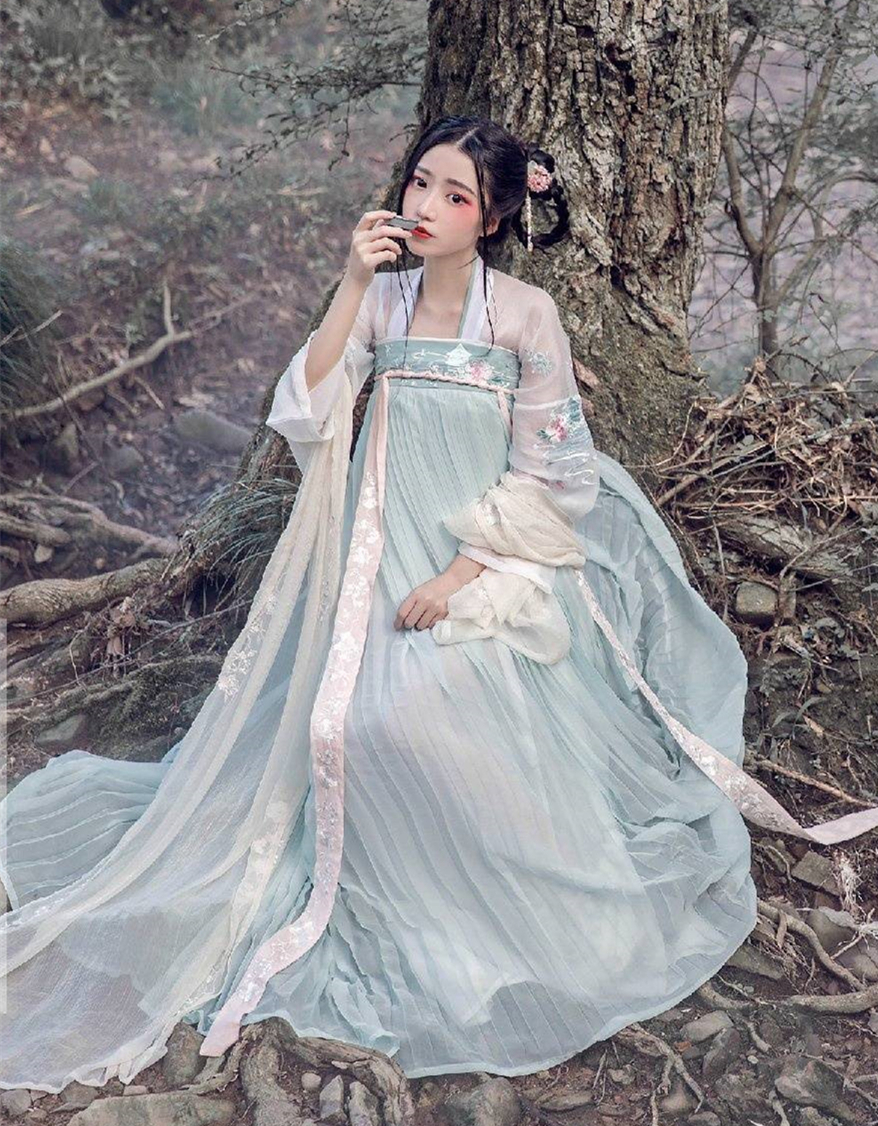 Women Lady Elegant Han Dynasty Dress Clothing Suit Ancient Costume Chinese style Fairy