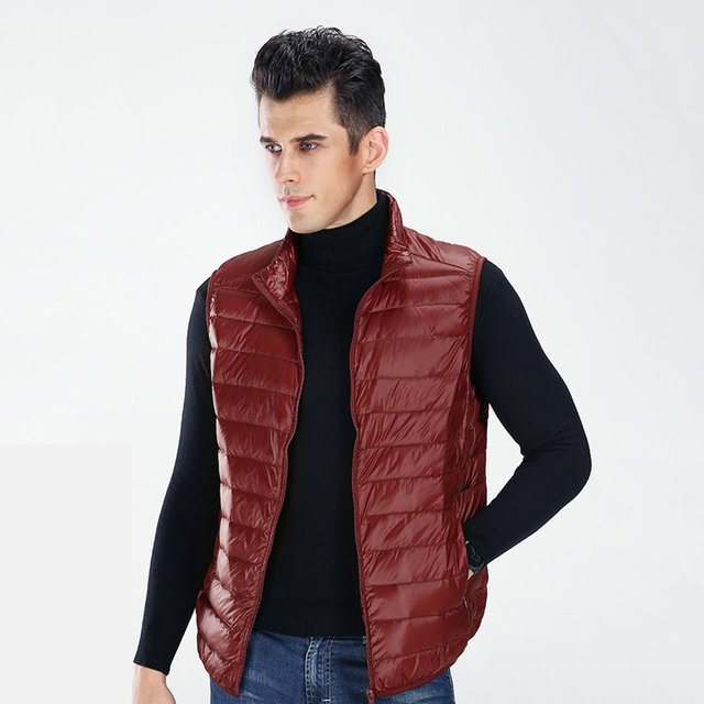 New White Duck Down Padding Men S Autumn Winter Bomber Jacket Casual