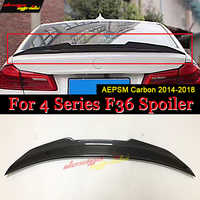 For BMW F36 wing Rear Spoiler PSM Style Carbon 4 Series 420i 428i 435i 418d 420d Tail Rear Spoiler wing lip F36 4-door hard top