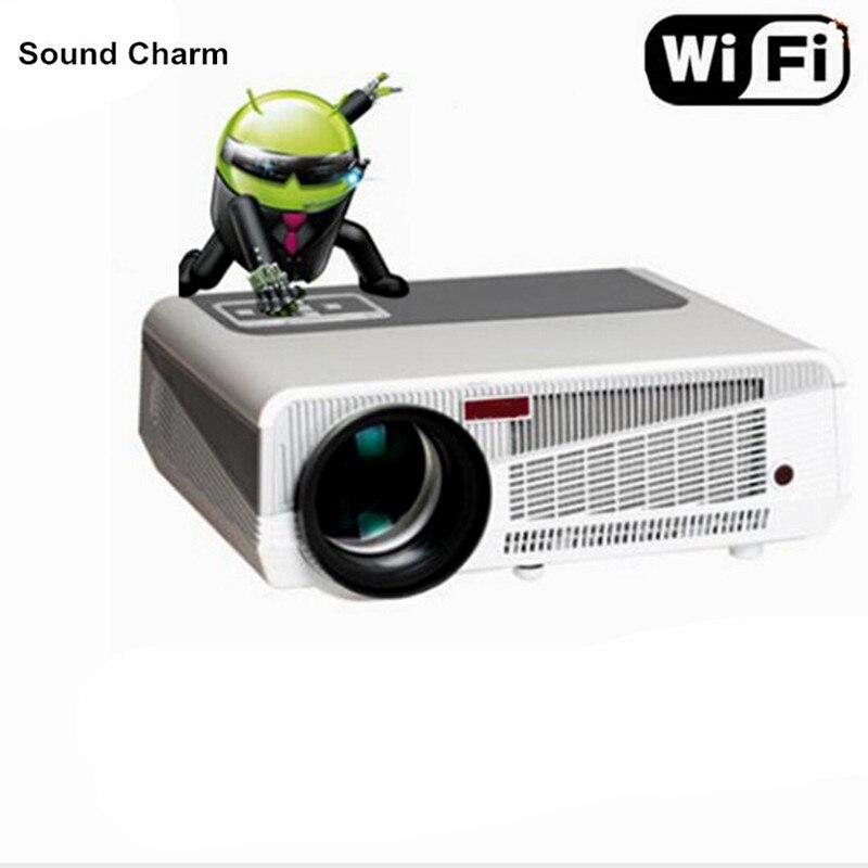 Идеальный светодиодный проектор собран в Andorid 4.42 Full HD 5500 люмен с HMDI USB ТВ проектор для домашнего кинотеатра
