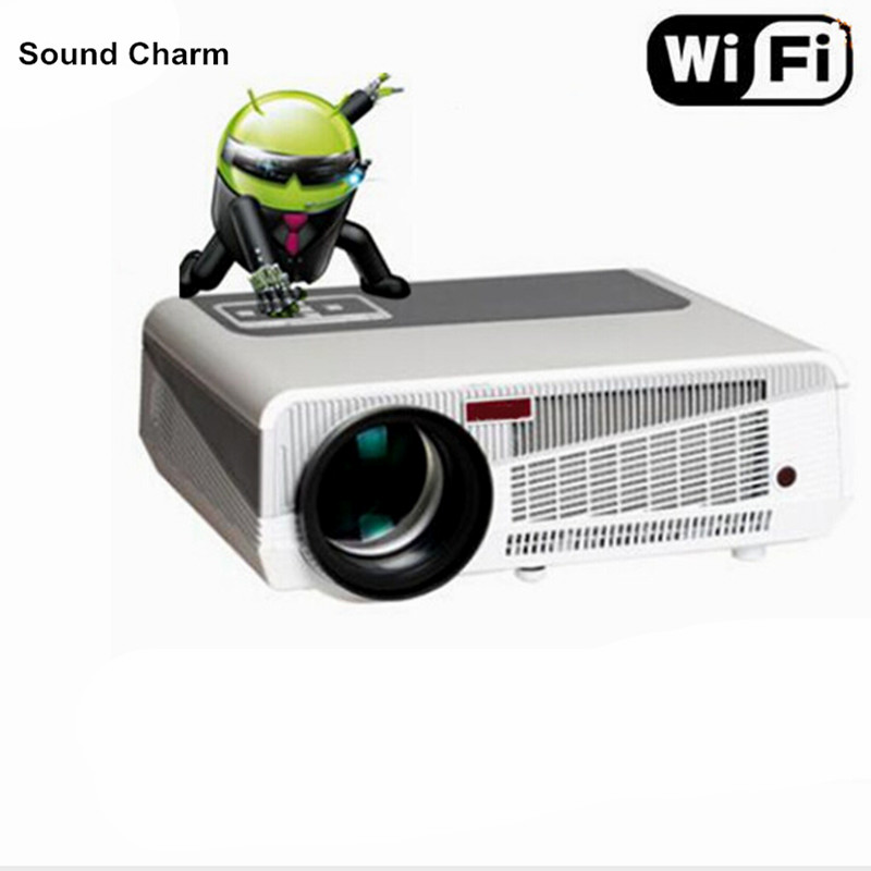 лучшая цена Perfect LED projector built in andorid 4.42 Full HD 5500Lumens with HMDI USB TV home theater projector