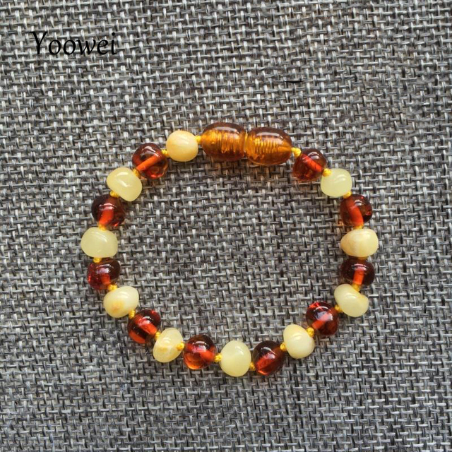 Yoowei Baby Teething Amber Bracelet for Boys Girl Best Women Ladies Gift Natural Baltic Amber Jewelry Adult Anklet Sizes 13-23cm 3