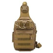 Bolsa de pecho táctica de gran capacidad, bolsa de hombro de caza de camuflaje, bolsillos impermeables para montar, mochila de nailon militar para acampar