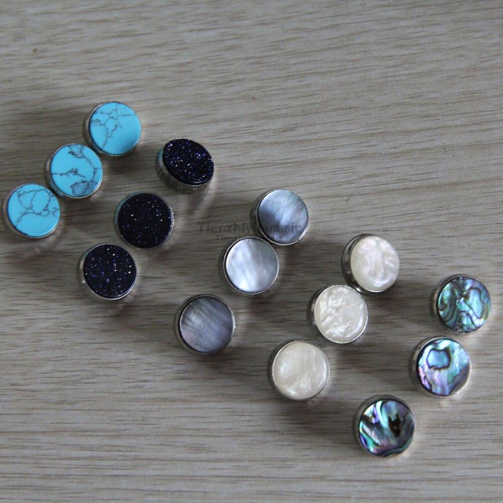 5set=15 pcs trumpet finger button pearl set real abalone shell flashingpearl