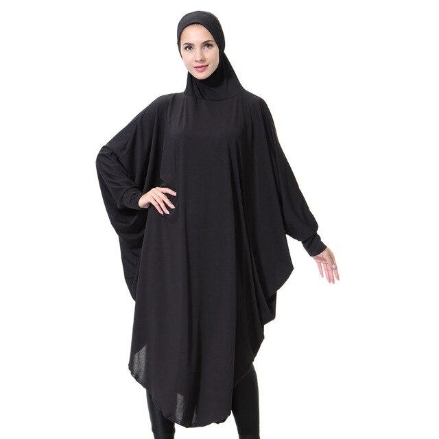 Cobertura Abayas Musulmanes Hijabs Islmicos Manto Negro -5299