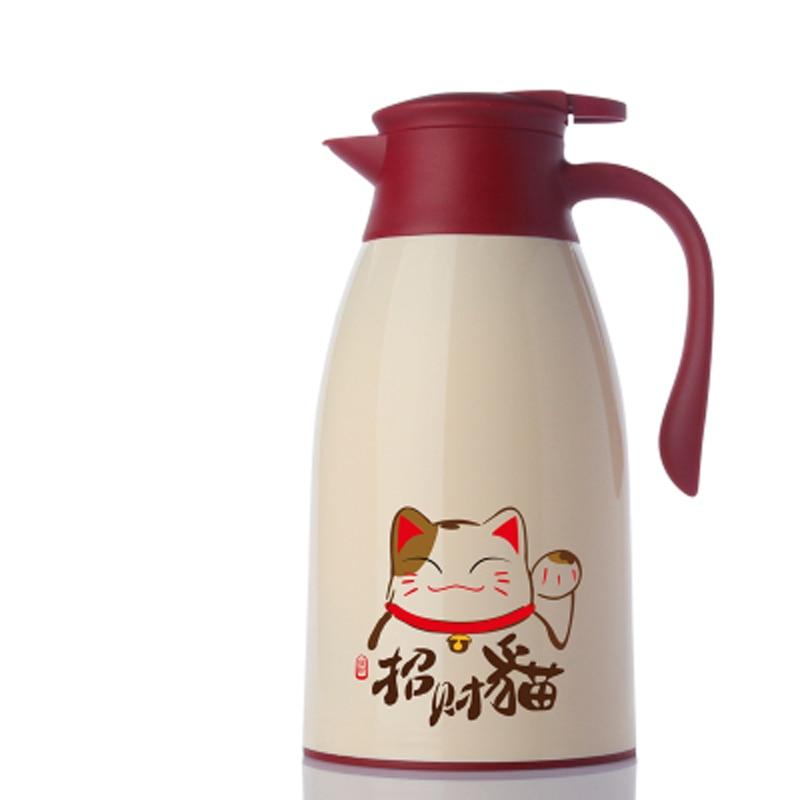 Fashion Cartoon Owl Cat 1 6L 1 9LThermo Jug Heat Kettle Vacuum Insulated Pot Coffee Tea