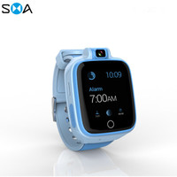 4G watch phone with sim card for children kids 360 degree rotating camera Waterproof sports GPS positioning Cartoon smart watch