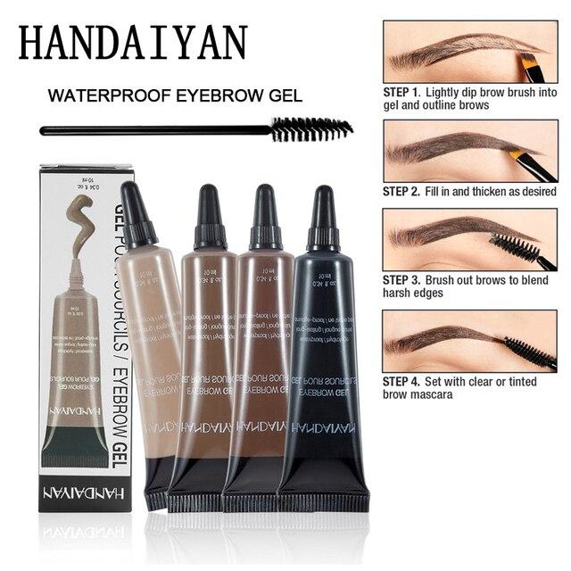 Aliexpress Buy Henna Eyebrow Gel Brunette Tint Eyebrow Dye