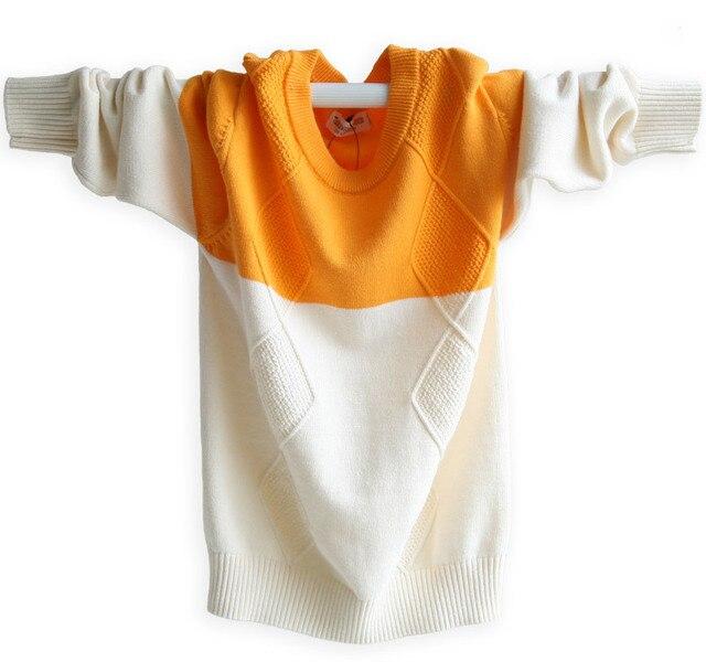100% cotton wool sweater, children's sweater, big boys, boys, autumn sweater