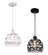 Modern Crystal Lamps Vintage Loft Industrial Cage Hanging Lighting Hall Entrance Door Hallway Bar Balcony Study Bedroom LED lamp цена
