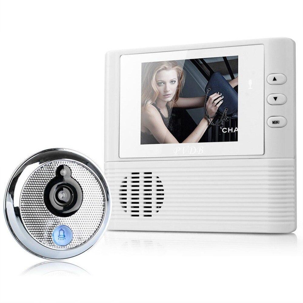 Judas Vidéo-eye Home Security Nuit Vision Caméra Sonnette De La Porte 2.8 pouce LCD Numérique Porte Caméra Sonnette 300 k caméra Pixel