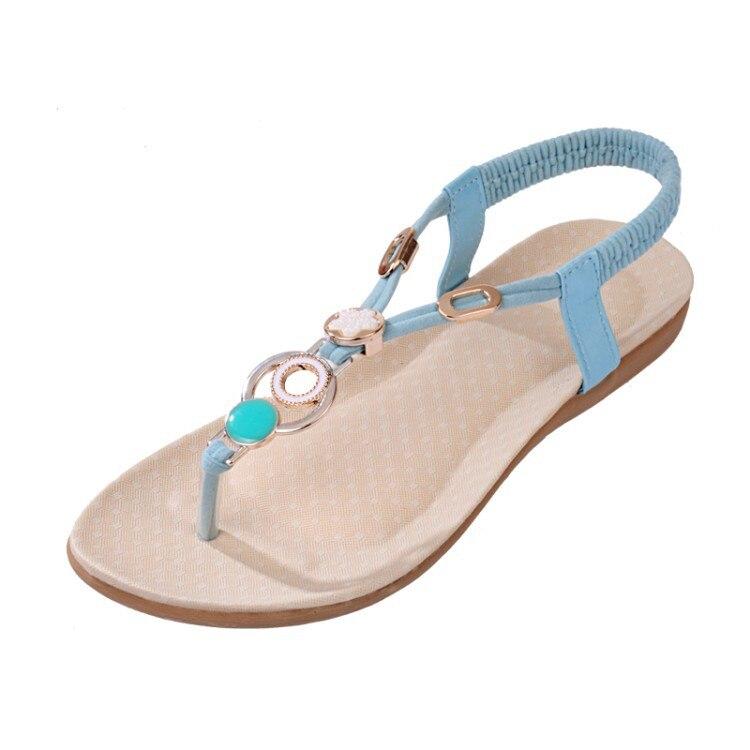 e5767e77c6d1 2016 Fashion simple Flip flops gemstone sandals women Size 35 42 ...