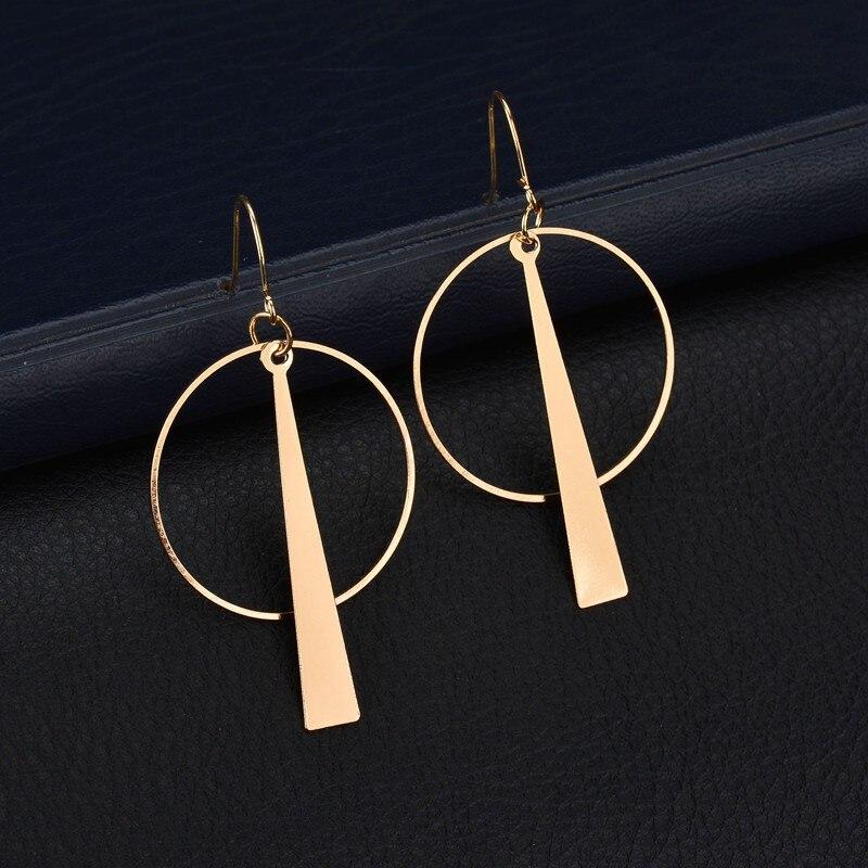 orecchini cerchio long Drop earrings vintage kpop geometric wedding jhumka round brincos for women oorbellen kolczyki aretes gold earrings for women