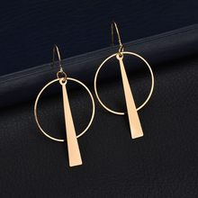 orecchini cerchio long Drop earrings vintage kpop geometric wedding jhumka round brincos for women oorbellen kolczyki aretes(China)