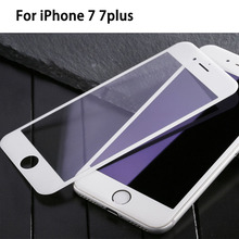 Фотография 9H Full Cover Tempered Glass for iPhone 7 7plus Screen Protector Colorful for 6 6splus Protective Film For iphone 5 5s SE 5C