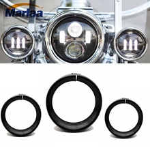 Marlaa 7 дюймов фара отделка кольцо Harley 4.5 дюймов туман пазинг свет отделка кольцо для Harley Electra Glide классический FLHTC