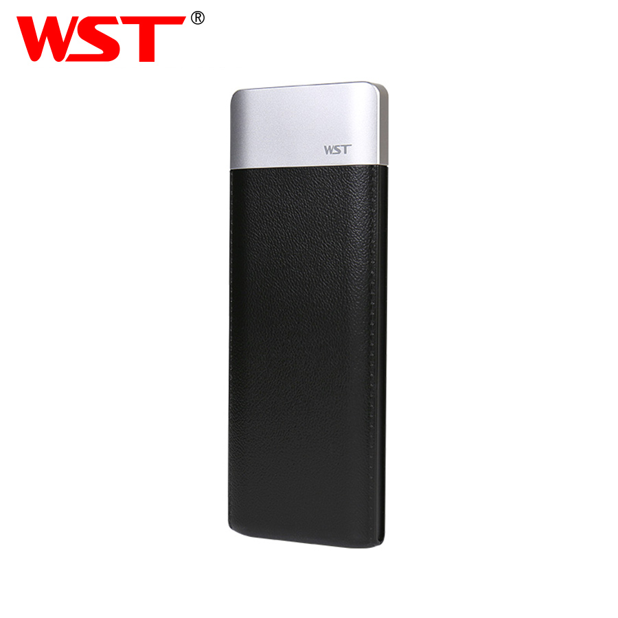WST Slim Real <font><b>6000mAh</b></font> <font><b>Power</b></font> <font><b>Bank</b></font> PoverBank Battery Pack Mobile External Battery Powerbank For <font><b>Xiaomi</b></font> Samsung Phone Powerbank image