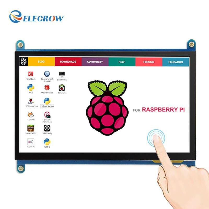 Elecrow Framboise Pi 3 Écran Tactile 7 pouce LCD Affichage HDMI 1024X600 7