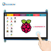 Elecrow 7 Inch Raspberry Pi LCD Display HDMI Monitor 1024X600 7 HD TFT LCD Display With