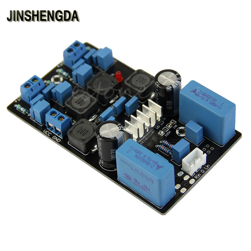 JINSHENGDA  Amplifier TPA3116D2 50Wx2 Official Version Finished Stereo Digital Power Amplifier Board -R179 Drop Shipping
