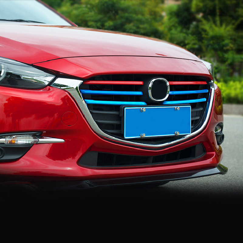 6pcs for Mazda 3 Axela 2017 front grille decorate strip|Chromium Styling| |  - title=