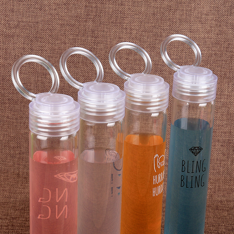 35506eb2bb HSD Borosilicate glass h20 water bottle mini voss bottle custom drink  bottles botellas reutilizables for colored plastic water-in Water Bottles  from Home ...