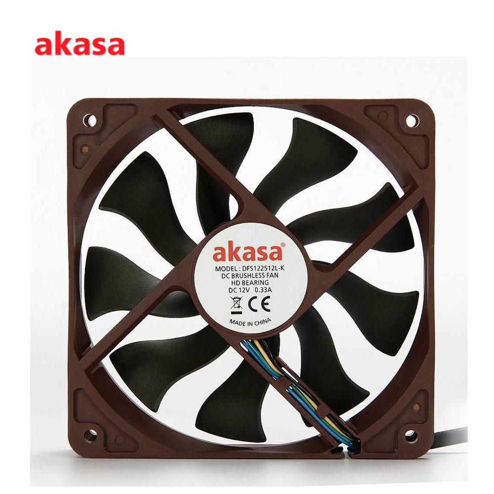 Akasa AK-FN057 12cm APACHE S-FLOW Blade Design Fan computer case cooling Fan Heatsink cooler Fan Hydro Dynamic Bearing 57.53CFM стоимость