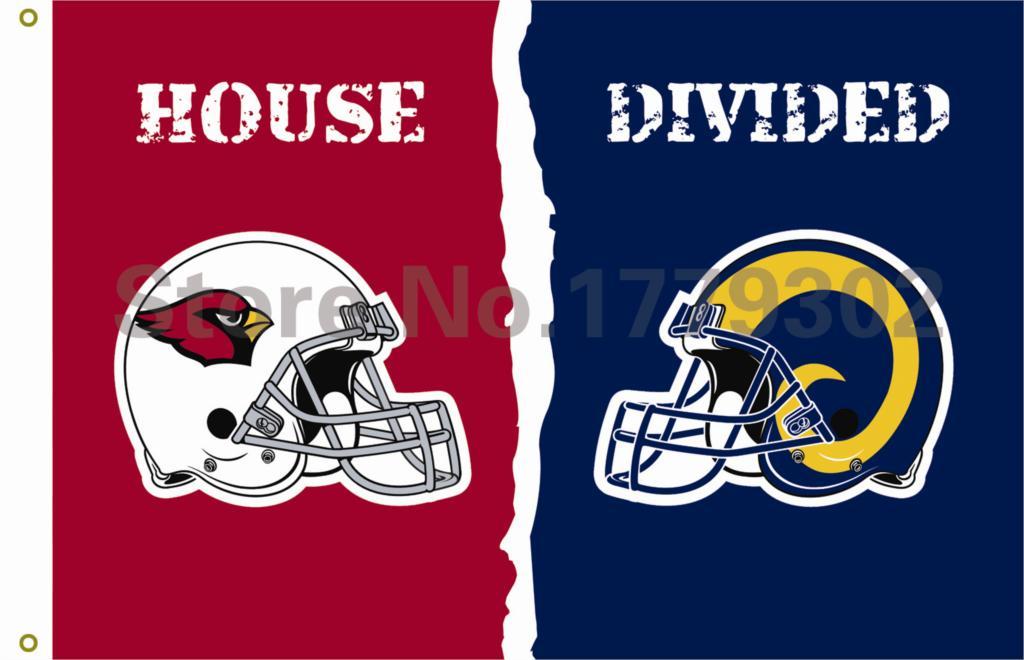 Arizona Cardinals St. Louis Rams helmets House Divided Flag3ft x 5ft