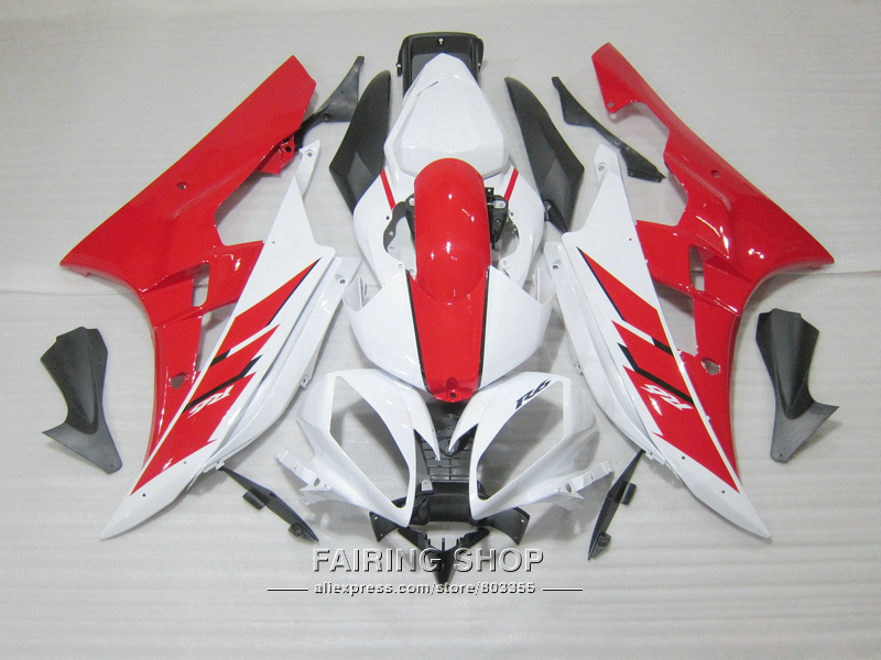 Injection molding plastic fairings For Yamaha YZF R6 07 08 white red black bodywork fairing kit YZF 2006 2007 YT11 injection molding bodywork fairings set for yamaha r6 2008 2014 blue white black full fairing kit yzf r6 08 09 14 zb77